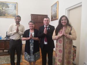 Agócs János Íelnök úr fogadta az Indiai követség delegációját